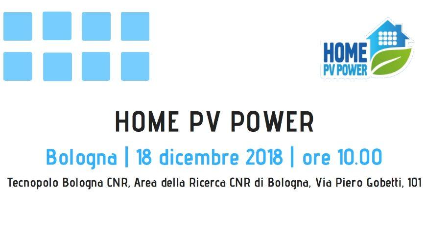 Seminario conclusivo del progetto HomePVPower