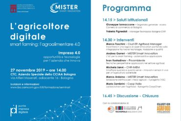 L'agricoltore digitale e lo smart farming: il 27 novembre workshop con la CCIAA